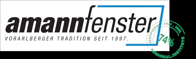 Logo Amannfenster mit Stempel